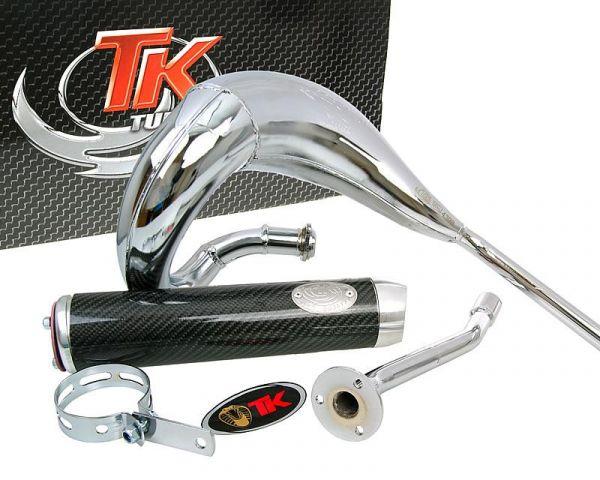 Turbo Kit Bufanda RQ Chrom Carbon Auspuff Derbi Senda Gilera D50B0 EBS