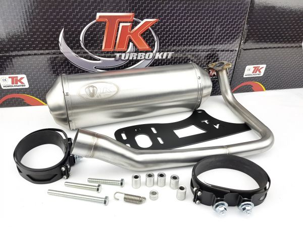 Edelstahl Turbo Kit Sport Auspuff Kymco Dink Bet&Win Yager Spacer 125