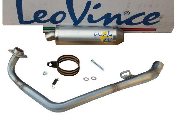 Auspuff Leovince SBK EVO 2 ALU Factory 2 Yamaha YZF R125 125 R 08-13 4T