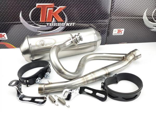 Edelstahl Turbo Kit ROAD Sport Auspuff Derbi Senda Baja R 125 4 Takt