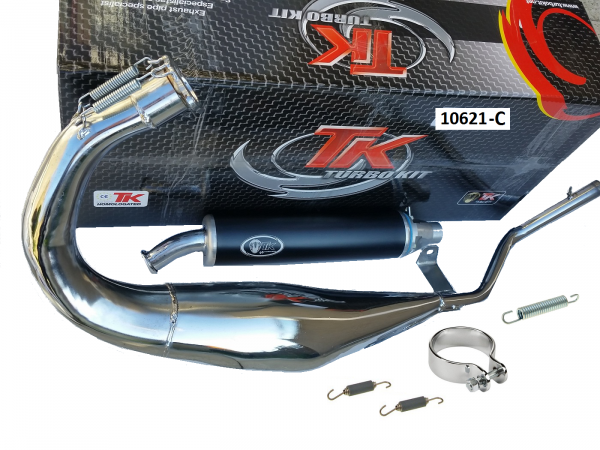 Auspuff Turbo Kit Road R Chrom Sport CAGIVA RAPTOR Planet 125 2T LC