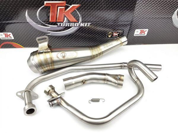 Edelstahl Turbo Kit GP Auspuff Hyosung GT N E3 NE R E3 RF Naked 125 4T