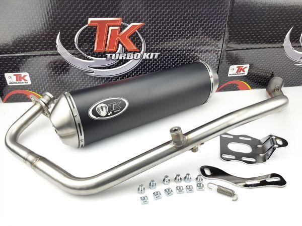 Turbo Kit X-Road Edelstahl Sport Auspuff Daelim Roadwin 125 Fi 4 Takt