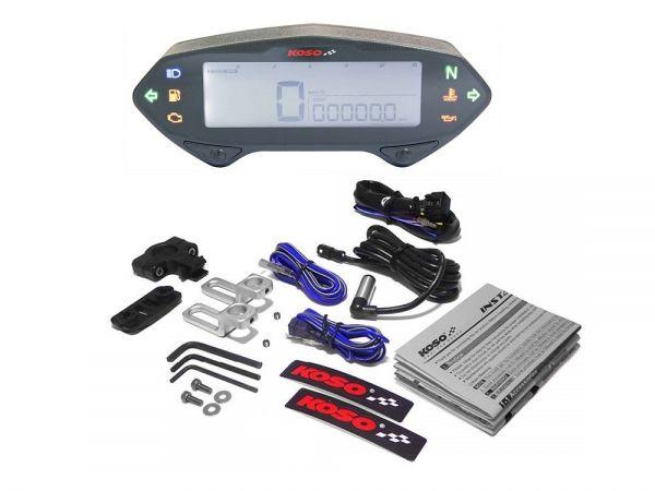KOSO DB-01RN Tachometer mit Drehzahlmesser Enduro Motorroller Roller