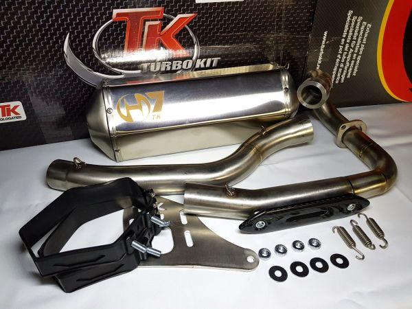 Turbo Kit Edelstahl H7 Sport Quad Auspuff Suzuki LTZ Kawasaki KFX 400