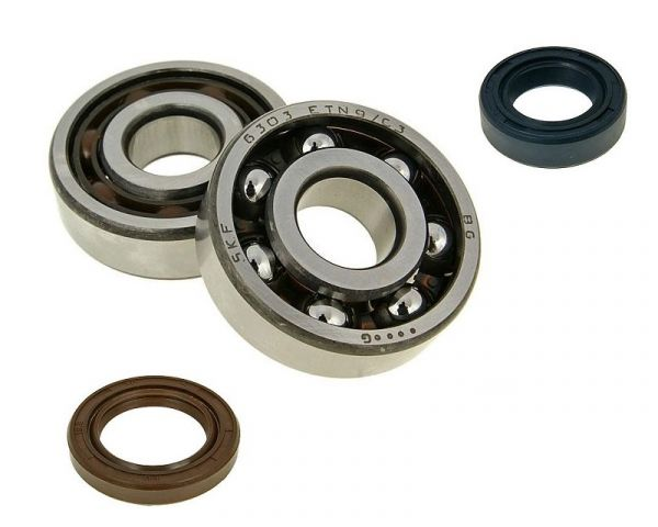 Kurbelwellenlager + Simmerringe KIT SET SKF C3 AM6 Minarelli 50 Moped