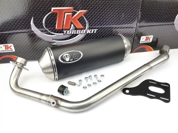 Turbo Kit X Road Edelstahl Sport Auspuff RKS Ride Zento 125 LC 4 Takt