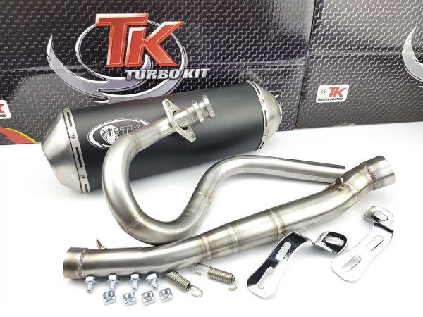 Turbo Kit ROAD Edelstahl Sport Auspuff Derbi Senda Baja R 125 4 Takt