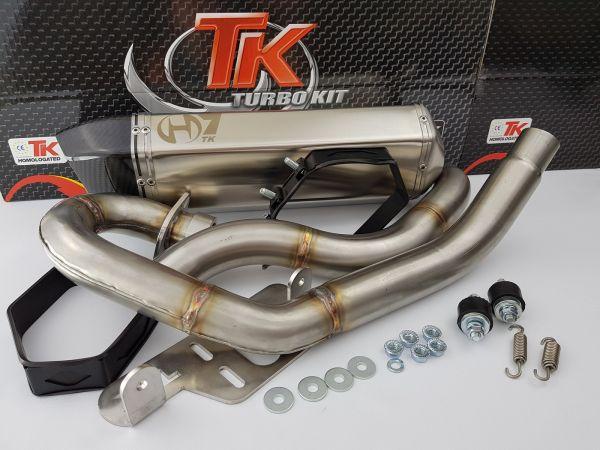 Turbo Kit H7 Sport Edelstahl Auspuff Yamaha Warrior Raptor 700R ab 15