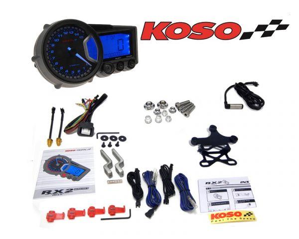 Tachometer Koso Tacho Digital Cockpit RX2 GP Style Motorroller Quad