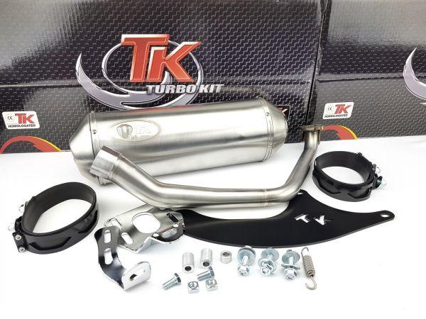 Edelstahl Turbo Kit Sport Auspuff SYM Sanyang Symphony S 1 2 125 150