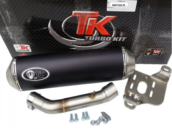 Turbo Kit GMax Edelstahl Sport SLIP-ON Auspuff SYM Maxsym 600 16-19 4T