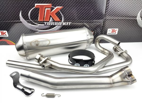 Edelstahl Turbo Kit X-Road Auspuff Hyosung GT N E3 NE E3 RF COMET 250