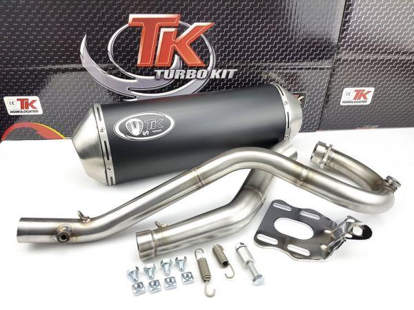 Turbo Kit X Road Edelstahl Sport Auspuff KEEWAY TX 125 S 4 Takt 4T