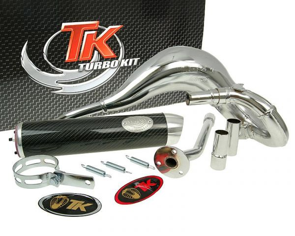 Sport Auspuff Turbo Kit Bufanda RQ Chrom/Carbon Beta RK6 50 AM6