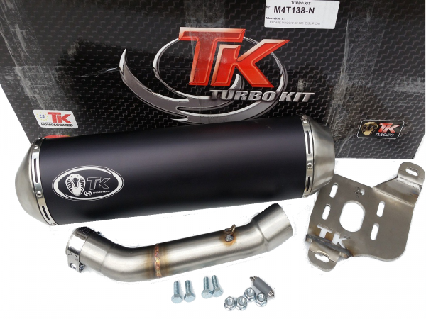 Turbo Kit SLIP-ON Sport Auspuff Piaggio X9 500 500i 4T 01 02 03 04