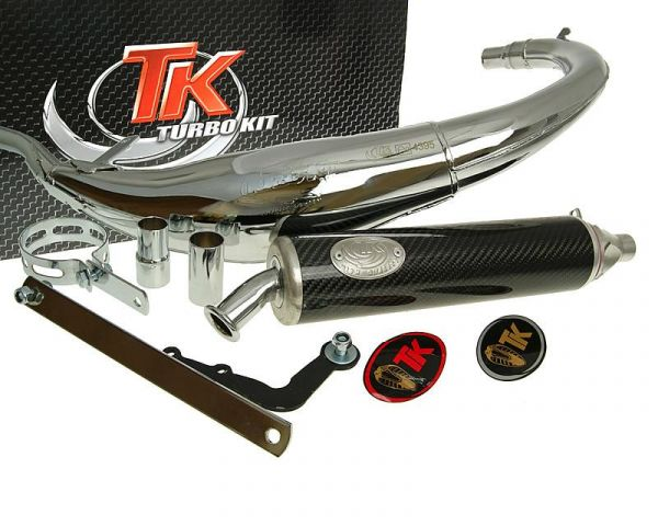 Turbo Kit Bajo RQ Chrom/Carbon Sport Auspuff Rieju-MRX SMX Spike 2 AM6
