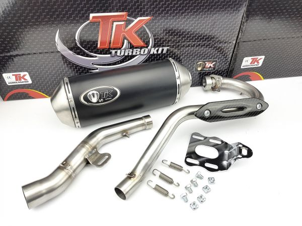 Auspuff Turbo Kit Edelstahl Sport Rieju MRT Marathon Pro 125 4T LC