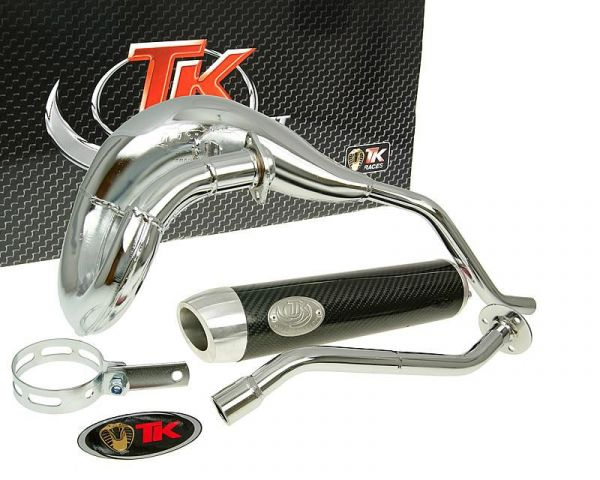 Auspuff Turbo Kit Bufanda RQ Chrom/Carbon Derbi Senda DRD D50B0 ab 06