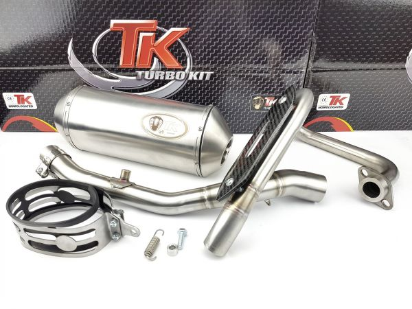 Edelstahl Turbokit Sport Auspuff Yamaha WR125R Enduro WR125X SM 125 4T