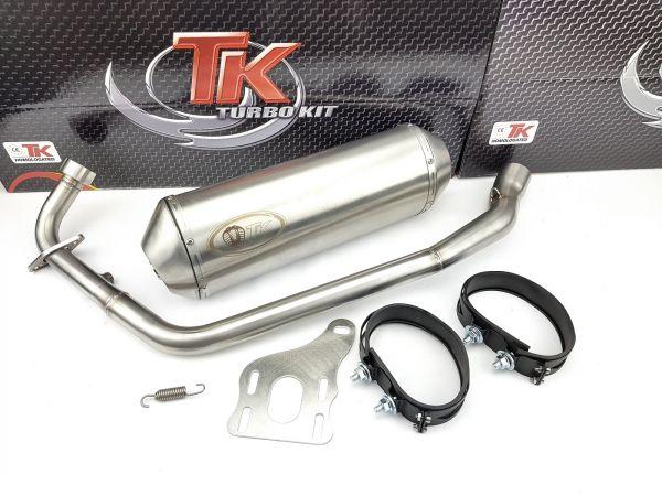 Edelstahl Turbo Kit XRoad Sport Auspuff KEEWAY RKV 125i 125 4 Takt 4T