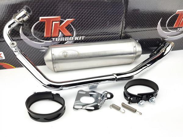 Edelstahl Turbo Kit XRoad Auspuff Daelim Roadwin R Roadsport 125 4T