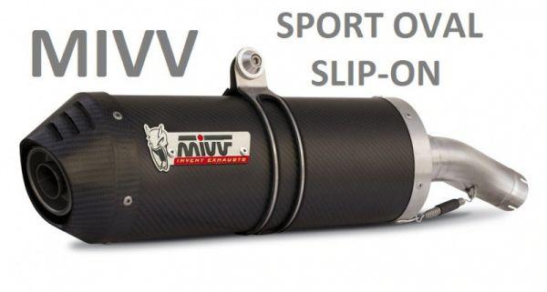 Auspuff MIVV SPORT GP SLIP ON CARBON Kawasaki Z 750 07-12