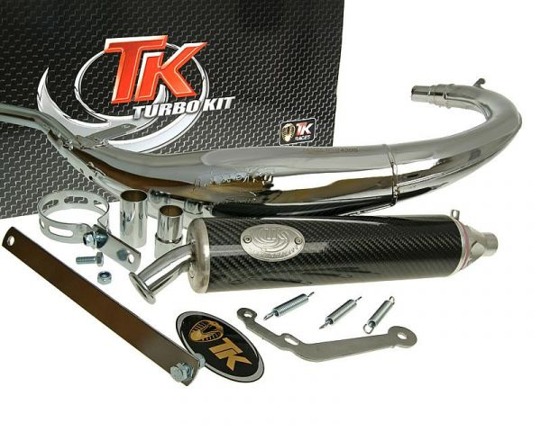 Sport Auspuff Turbo Kit Bajo RQ Chrom/Carbon HM-Moto CRE Enduro AM6 50