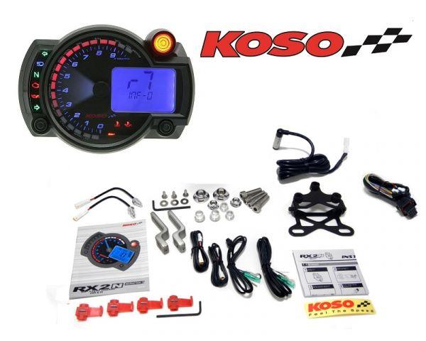 Multifunktions-Tachometer Koso RX2N+ GP Style Max 10000 RPM U/min NEU