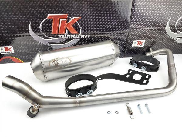 Edelstahl Turbo Kit X-Road Sport Auspuff Yamaha YBR 125 4T Motorrad