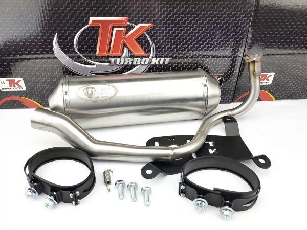 Edelstahl Turbo Kit G Max Sport Auspuff Honda SH 125i 150i ab 2014 4T