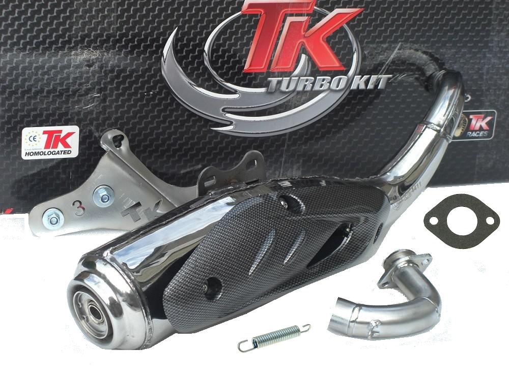 auspuff turbo kit tkr tk020v2a edelstahl peugeot speedfight stehend 50 scooter roller teile. Black Bedroom Furniture Sets. Home Design Ideas