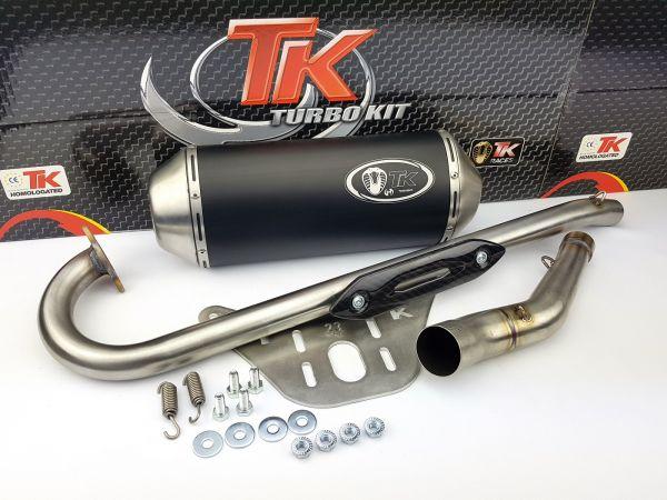 Turbo Kit Sport Edelstahl Auspuff Arctic Kymco KXR MXU Wide 250 300 4T