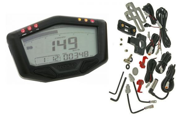 Multifunktions Universal Tachometer Koso DB-02 Race Batterie Version
