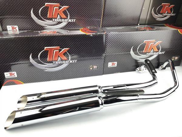 Turbokit Custom Style Chrom Sport Auspuff Suzuki Intruder VL 250 LC 4T