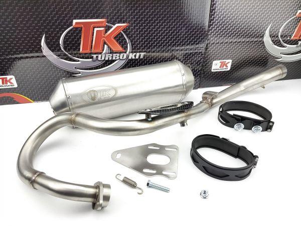 Edelstahl Turbo Kit ROAD Sport Auspuff Suzuki RV VanVan 125 4 Takt AC