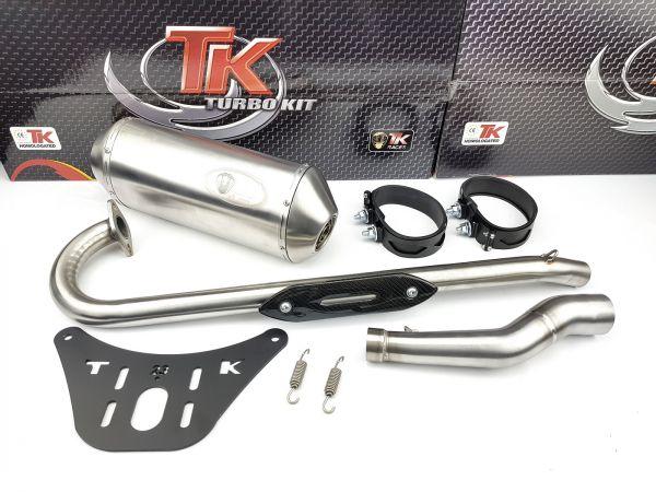 Edelstahl Turbokit Sport Auspuff Kymco KXR MXU Maxxer Mongoose 250 300