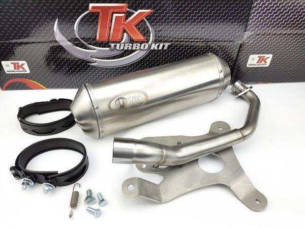 Turbo Kit TK Sport Edelstahl Auspuff MBK Flame XC125 Yamaha Cygnus 125