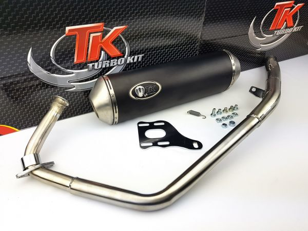 Turbo Kit X-Road Sport Edelstahl Auspuff Kymco Quannon Naked 125 4T