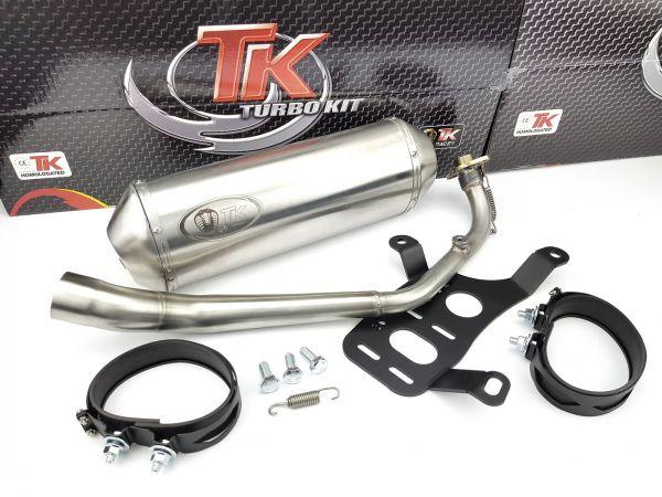 Edelstahl Turbokit GMax Sport Maxi Auspuff Kymco Downtown 125 125i 4T