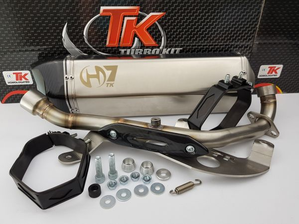 Turbo Kit H7 Edelstahl Sport Auspuff Kymco K-XCT 300i SK60BA ab 2013