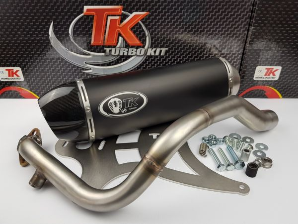 Auspuff Turbo Kit Carbon H2 Sport Kymco Grand Dink S4 125s 125i bis 08