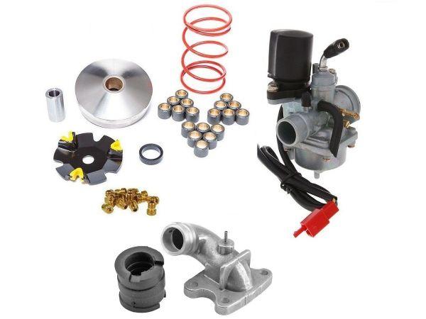 Racing Variomatik +17,5mm Vergaser Kit Peugeot Buxy Speedfight 50 2T