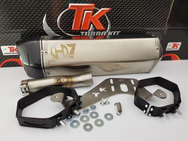 Auspuff Turbo Kit GMax H7 Carbon Sport SLIP-ON Maxsym 400i 400 ab 2011