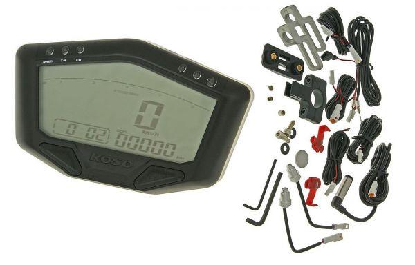 Universal Tachometer Koso DB-02R Road 12V Version Roller ATV QUAD