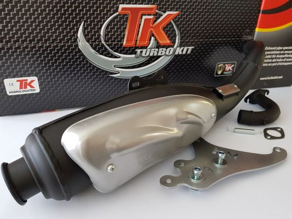 Turbo Kit TKR Auspuff Kymco Yager Dink Yup SYM RS Red liegend 50 2T