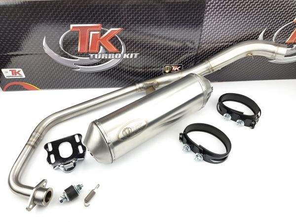 Edelstahl Turbo Kit Road Sport Auspuff Honda CBR 125 R 2004-2010 125i