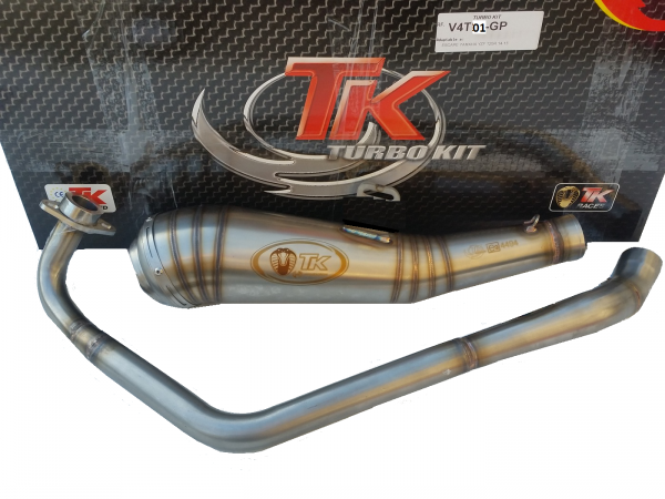 Auspuff Turbo Kit ROAD GP Edelstahl Sport Daelim Roadwin 125 Fi 4 Takt