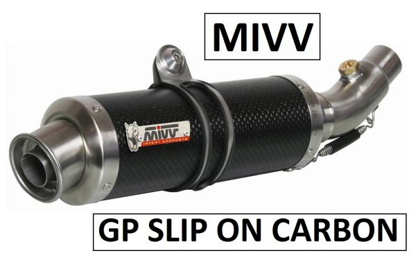 Auspuff MIVV SPORT GP SLIP ON CARBON Kawasaki Z 750 ab 2007 K.018.L2S