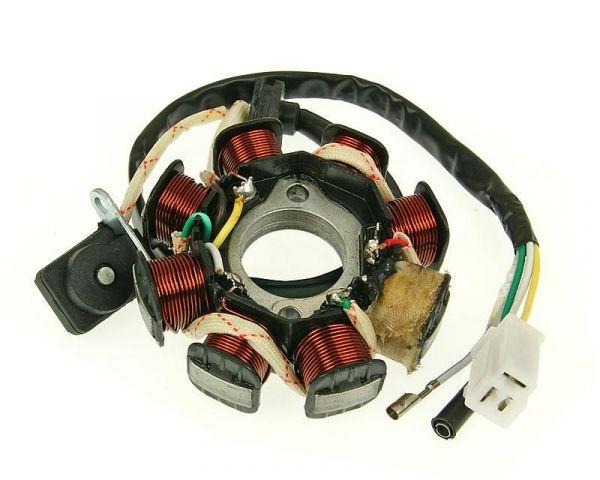 Lichtmaschine Stator Version 2 mit Stecker und Pickup Sensor 50 4T